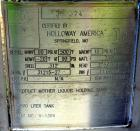 Unused- Holloway America Pressure Tank, 1200 Gallon, 316L Stainless Steel, Vertical. Approximate 60