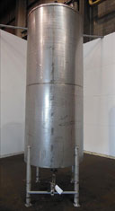 Used- Tank, 1100 Gallon, 304 Stainless Steel, Verical. 52