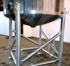 Used- Feldmeier Tank, 1,500 Gallon, 316 Stainless Steel, Vertical. 72