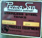Used- Perma-San Tank, 2000 Gallon, Model 2000 OVC, 304 Stainless Steel, Vertical. 84