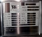 Used- T&C Stainless Tank, 1,000 Gallon, 316L Stainless Steel, Vertical. Approximately 65