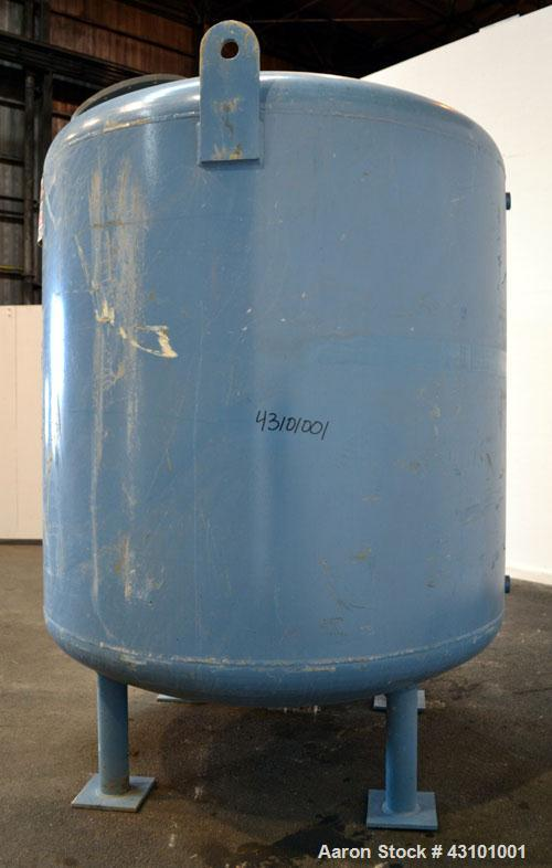 Used- Tolan Machinery Pressure Tank, 1500 Gallon, 316 Stainless Steel, Vertical. 78'' Diameter x 72'' straight side, dished ...