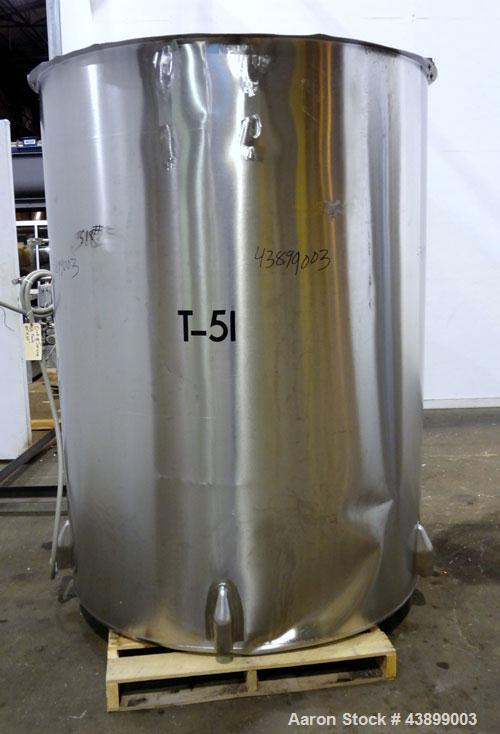 "Used- Viatec Chem-Tek Tank, 1000 Gallon, 304 Stainless Steel, Vertical. Approximately 62"" diameter x 82"" straight side. Open..."