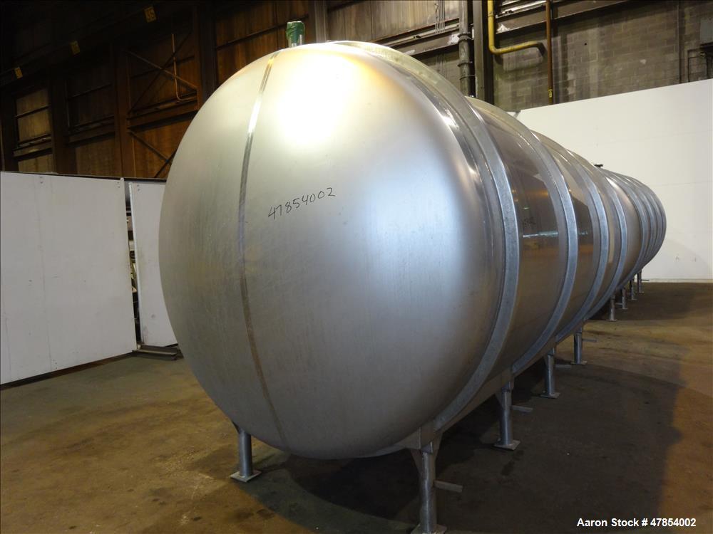 Used- Walker Tank, Model SSHHT, 4,500 Gallon, 304 Stainless steel. Horizontal.