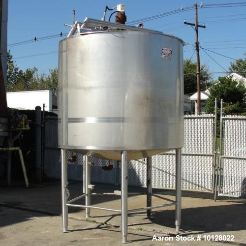 Used- 1,000 Gallon Stainless Steel Mixing Tank