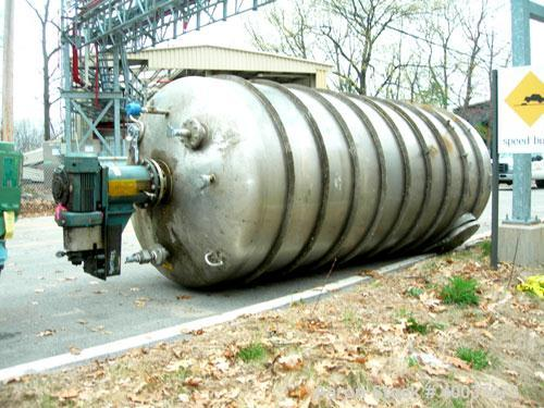 """Used: Walker Stainless pressure tank, 3000 gallon, stainless steel, vertical. Approximately 72"""" diameter x 166"""" straight sid..."""