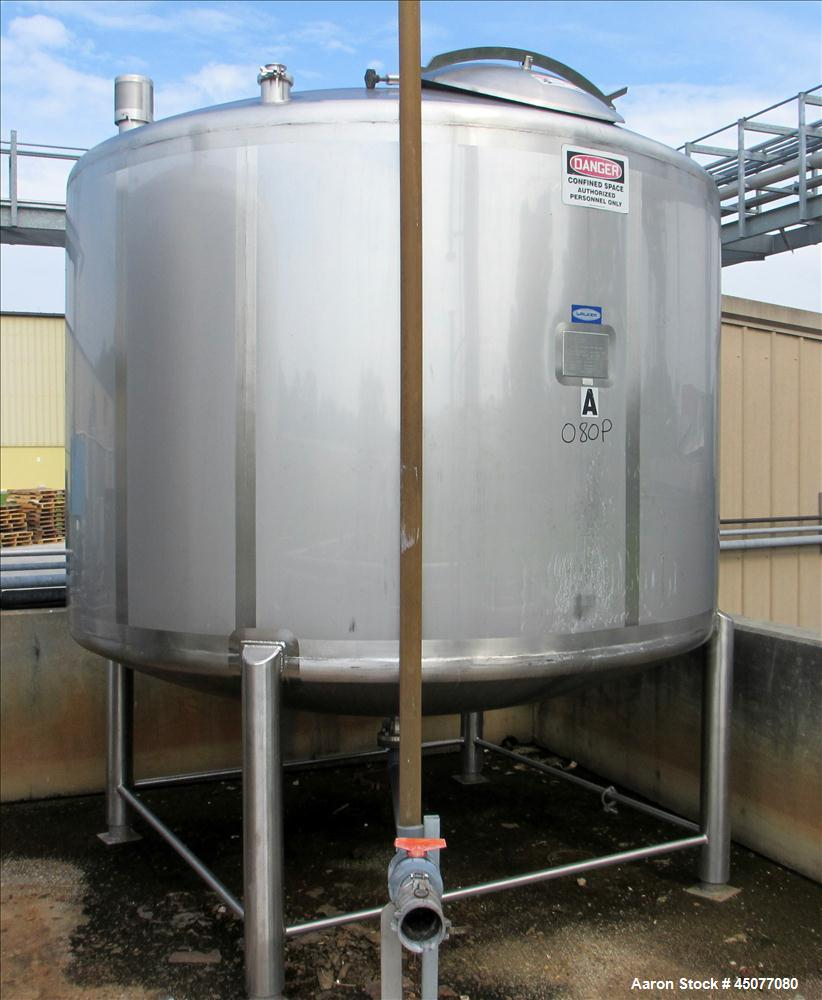 Used- 2000 Gallon Stainless Steel Walker Storage Tank
