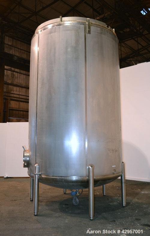 "Used- Cherry-Burrell Storage Tank, 4500 Gallon, Model CVD, 316L Stainless Steel, Vertical. 96"" Diameter x 135"" straight side..."