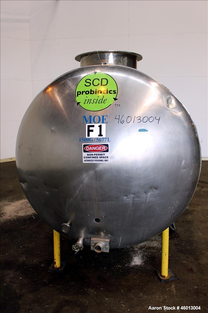 Used- Zero Milk Cooling Tank, Model NV1500, 1,500 Gallon