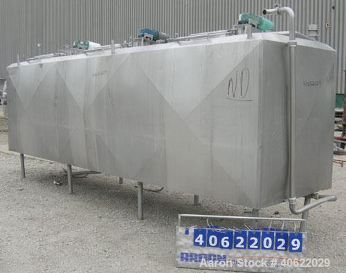 """Used-  Flavor tank, (3) compartment, approximate 600 gallon each, 304 stainless steel.  Each compartment measures 43"""" x 64"""" ..."""