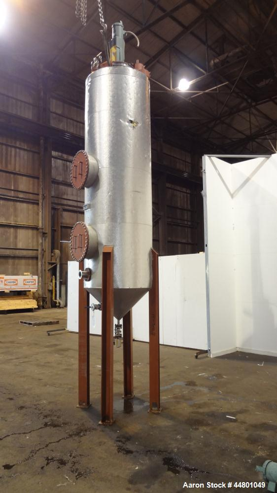 Used-  525 Gallon Stainless Steel Par Piping & Fabrication Tank, Model X5C100