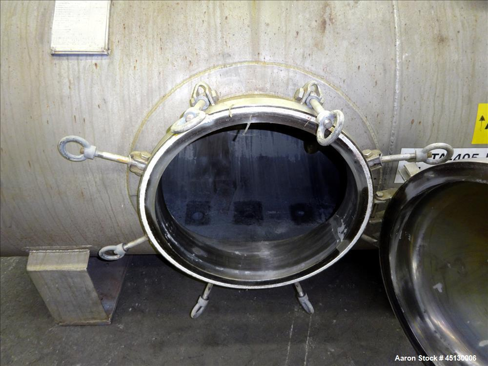 Used- Stainless Services Ltd Tank, 502 Gallon (1900 liter), 316L Stainless Steel