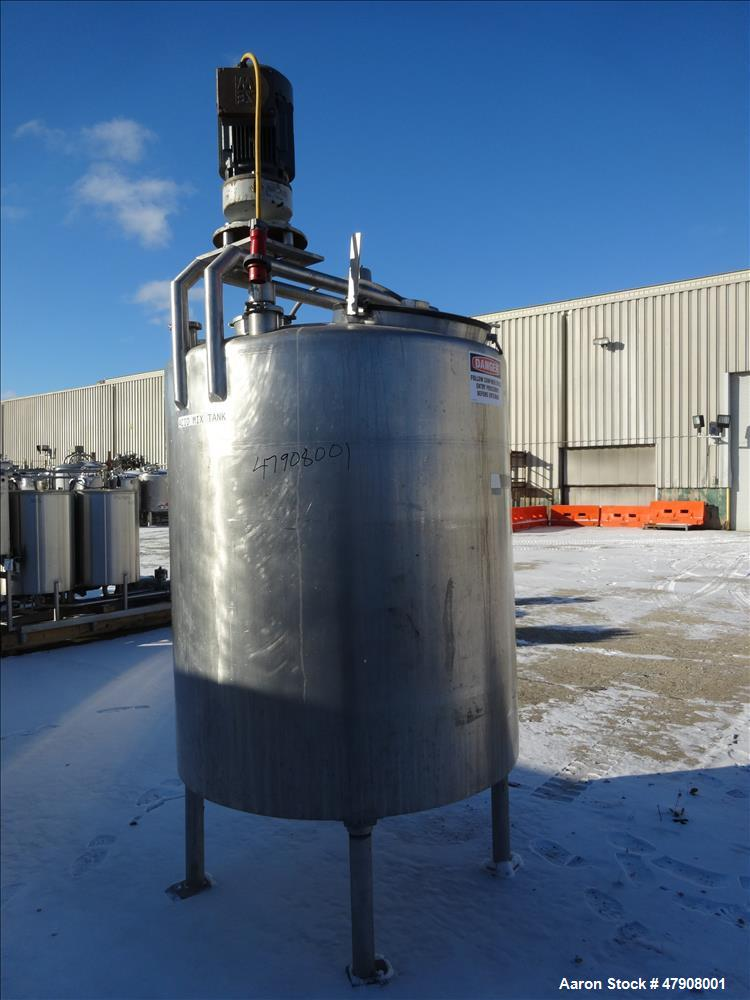 Used- Tank, Approximately 600 Gallon, 316 Stainless Steel, Vertical.