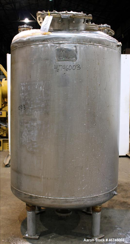 Used- Merck & Co Inc Tank, Approximately 500 Gallon, 316 Stainless Steel, Vertic