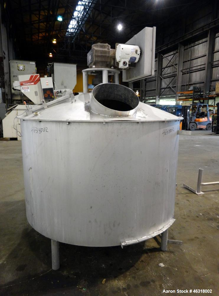 "Used- Blentech Tank, Model Tank 850-A, Approximately 650 Gallons, 304 Stainless Steel, Vertical. 72"" Diameter x 34"" straight..."