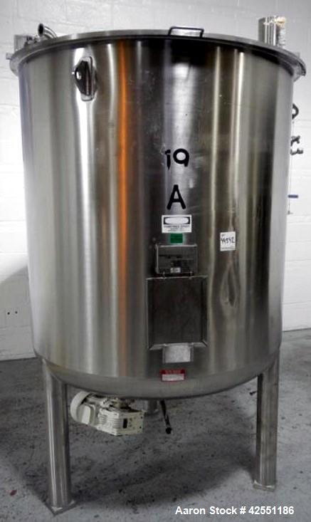 Used- 689 Gallon Stainless Steel Bolz Mixing Tank, Model BE501