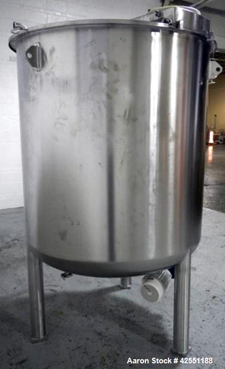 Used- 689 Gallon Stainless Steel Bolz Mixing Tank, Model BE502