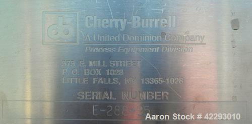 """Used- Cherry Burrell Tank, 600 gallon, 316L stainless steel, vertical. 48"""" Diameter x 72"""" straight side, dish top and bottom..."""