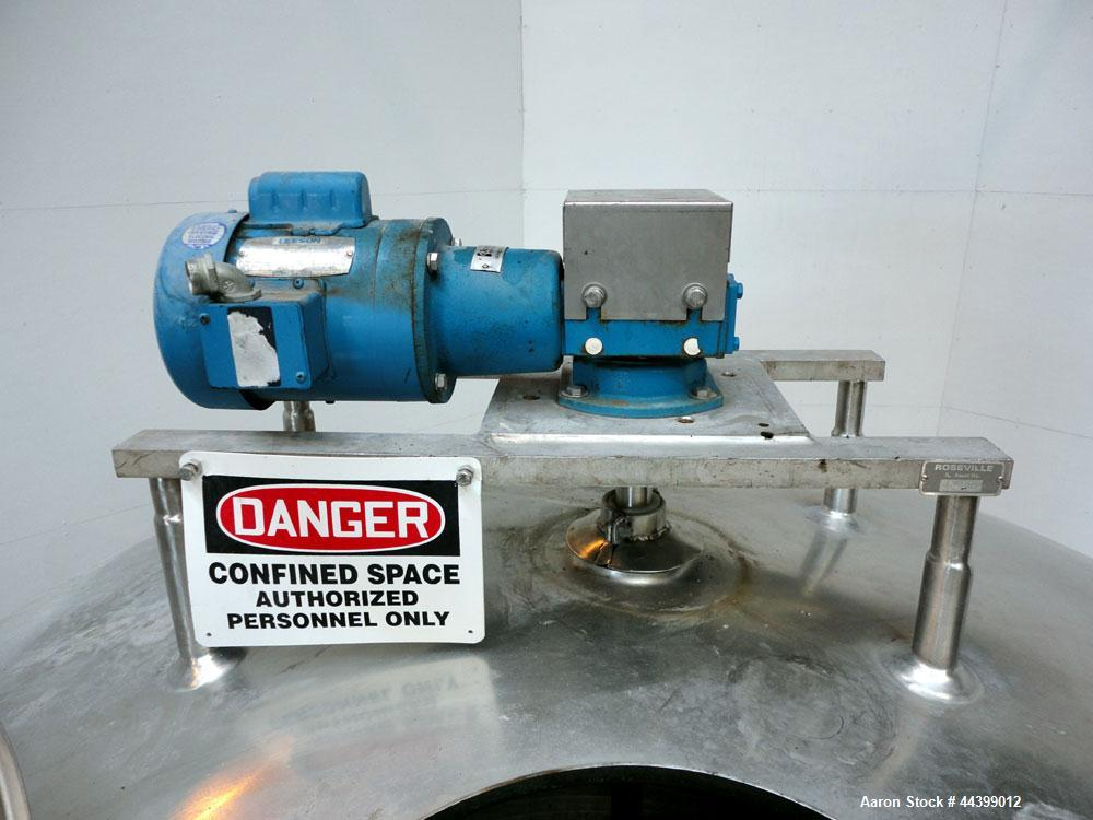 Used- 800 Gallon Stainless Steel Cherry-Burrell Processor Kettle