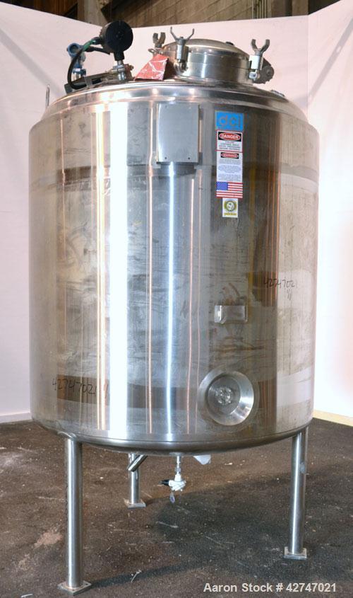 Unused- DCI Pressure Tank, 3000 Liter (792 Gallon), 316L Stainless Steel, Vertical. 60'' Diameter x 58'' straight side, dish...