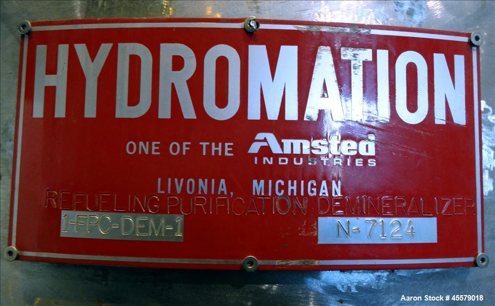 Unused- Hydromation Pressure Tank, (Purification Demineralizer)