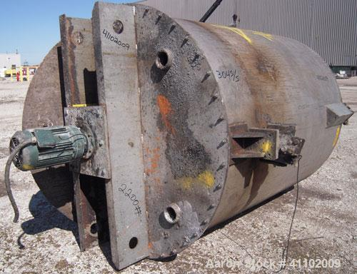 """Used- Imperial Steel Tank Company Tank, 950 gallon, 304 stainless steel, vertical. 60"""" diameter x 72"""" straight side. Flat bo..."""