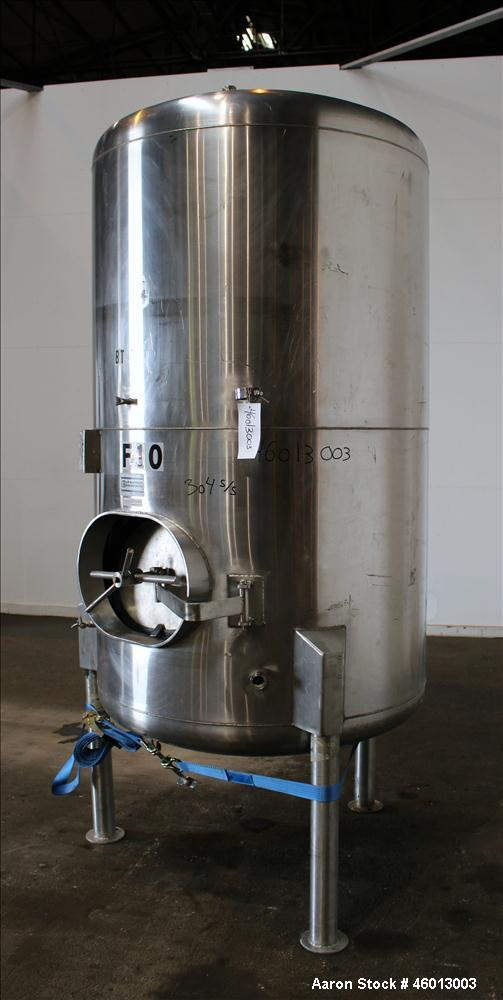Used- JV Northwest Inc. Tank, 600 Gallon, 304 Stainless Steel