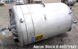 "Tank, 500 Gallon, 304 Stainless Steel, Vertical. Approximate 48"" diameter x 60"" straight side, dish..."
