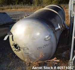 "Used- Tank, Approximate 700 Gallon, Stainless Steel, Vertical. Approximate 48"" diameter x 90"" straight side, dished top, fla..."