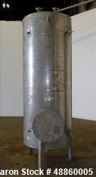 Used- Bendel Tank, Approximate 500 Gallon, 304L Stainless Steel, Vertical.