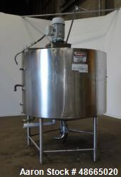 Used- Walker Stainless Jacketed Tank, Model PZ-CB, 800 Gallon, 316 Stainless Ste