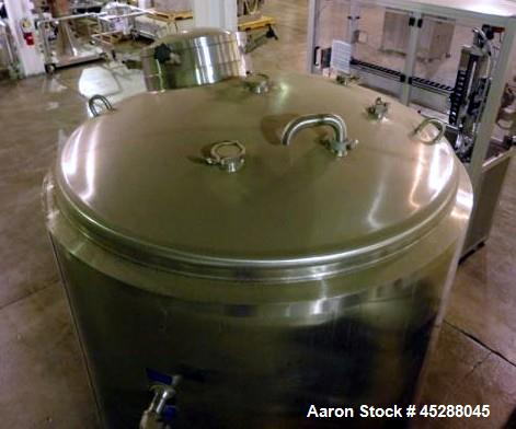 Used- 2500 Liter Stainless Steel Mueller Water Jacketed Tank