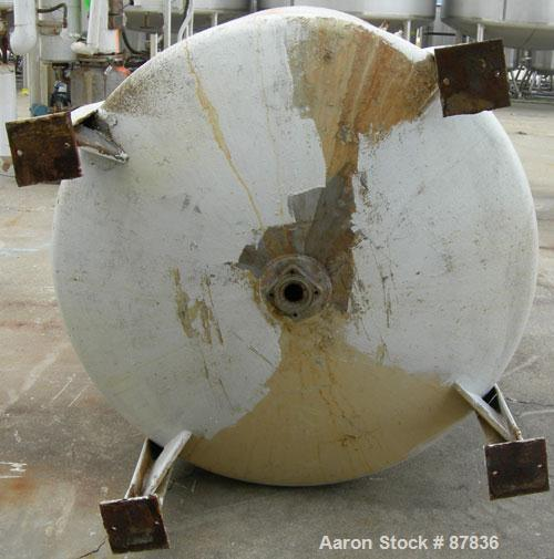 "Used- Niles Steel Pressure Tank, 875 Gallon, 304 Stainless Steel, Vertical. 60"" diameter x 66"" straight side. Dished top and..."