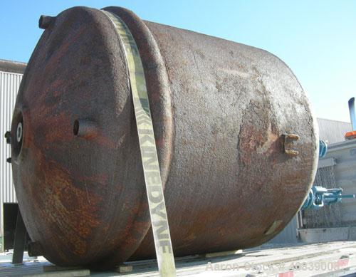 """Used- Tank, 950 Gallon, 316 Stainless Steel, Vertical. 64"""" Diameter x 64"""" straight side, dished top and bottom. (2) Finger u..."""