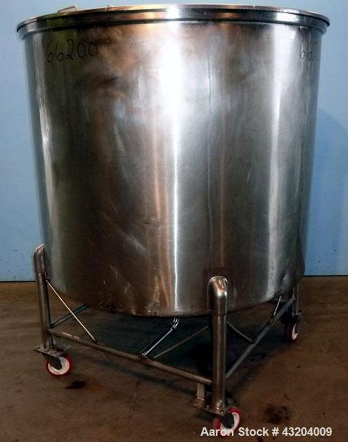 Used- 500 Gallon Tank.Stainless steel dish bottom, portable.