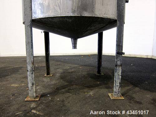 """Used- Tank, 750 Gallon, 304 Stainless Steel, Vertical. Approximate 55"""" diameter x 72"""" straight side. Open top, no cover, con..."""