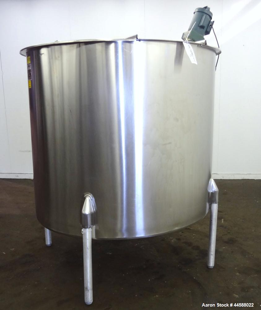 """Used- Perma-San Tank, 650 Gallons, Model OVS, 316 Stainless Steel, Vertical. Approximately 62"""" diameter x 51"""" straight side,..."""