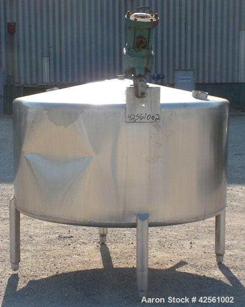 "Used- St. Regis Tank, Approximately 500 Gallon, 316 Stainless Steel, Vertical. 66"" Diameter x 30"" straight side, slight cone..."