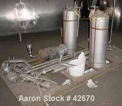 "Used- TCI Superior Aseptic Pressure Tank, 400 Gallon, Stainless Steel, Vertical. Approximately 48"" diameter x 52"" straight s..."