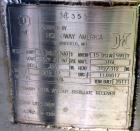 Unused- Holloway America Pressure Tank, 625 Gallon, 316L Stainless Steel, Vertical. Approximate 48