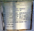 Unused- Holloway America Pressure Tank, 775 Gallon, 316L Stainless Steel, Vertical. Approximate 54