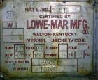 Used- Lowe-Mar Pressure Tank, 675 Gallon, 316 Stainless Steel, Horizontal. 48