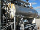 Used- Hebeler Pressure Tank, 940 Gallons, 316L Stainless Steel, Horizontal. 42'' diameter x 144'' straight side, 2 to 1 elli...