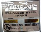 Used- Perma-San Tank, 650 Gallons, Model OVS, 316 Stainless Steel, Vertical. Approximately 62