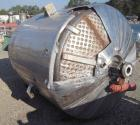 Used- Walker Stainless Tank, 900 Gallon, Stainless Steel, vertical. Approximately 60
