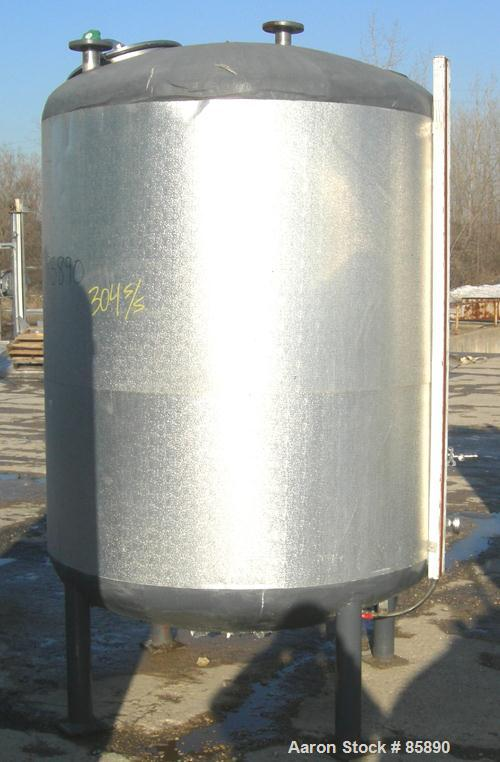 "Used- Vendome Tank, 675 Gallon, 304 Stainless Steel, Vertical. 54"" diameter x 63"" straight side. Dished top and bottom. (1) ..."