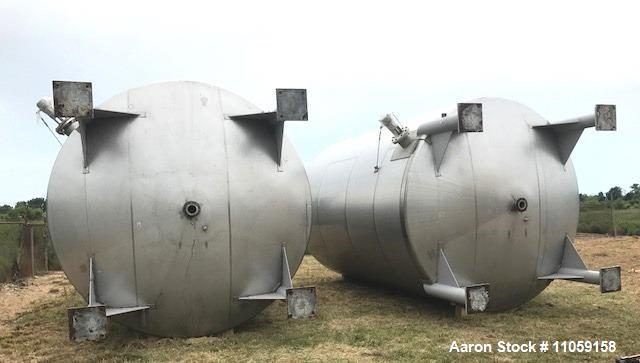 Used- 15,000 Gallon Stainless Steel Agitated Tank.