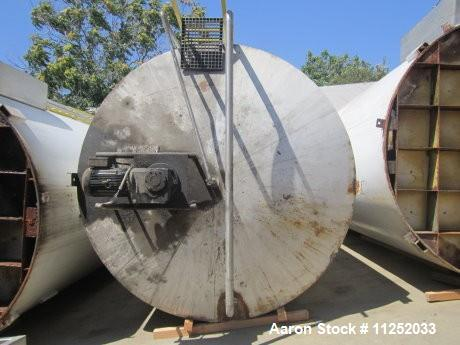 "Used-Tank, 10,000 Gallons, Stainless Steel.  Unit is jacketed on bottom and is insulated. Tank measures 116"" diameter x 224""..."