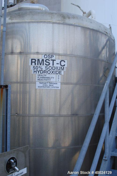 "Used: Feldmeier tank, 6000 gallon, 316L stainless steel, vertical. 108"" diameter x 144"" straight side, dished top and bottom..."