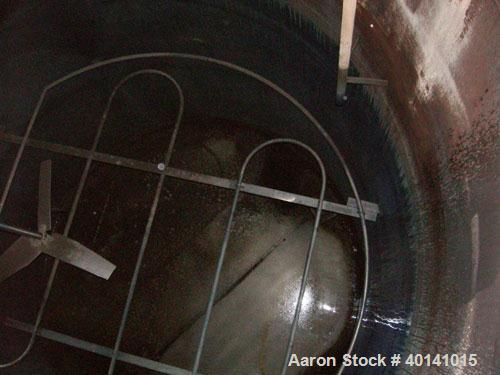 "Used: Steel tank and Fabricators tank, 15,000 gallon, 316 L. 1/4"" shellL, 12' diameter X 17'6"" high, flat top and bottom,  v..."